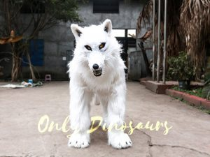 Life Size White Wolf Costume for Show