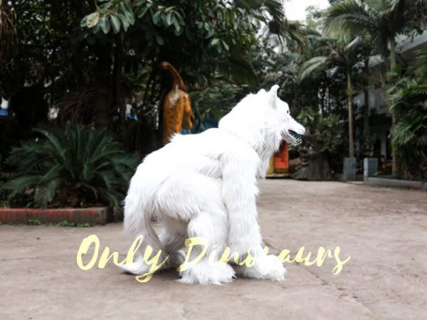 Life Size White Wolf Costume for Show3
