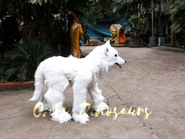 Life Size White Wolf Costume for Show4