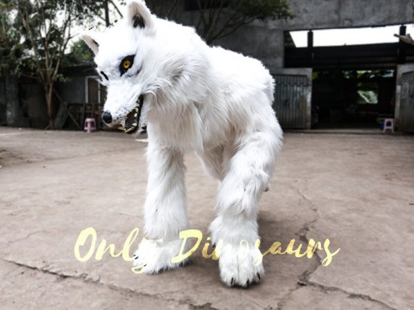 Life Size White Wolf Costume for Show6 1