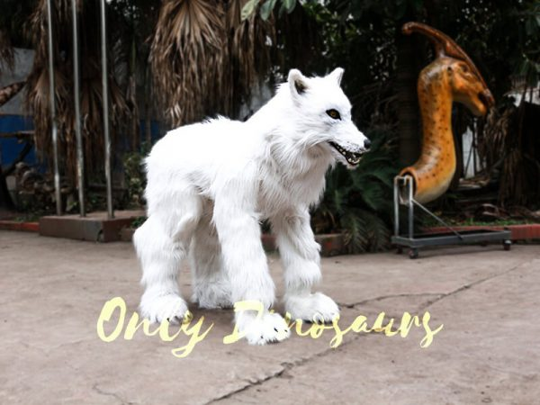 Life Size White Wolf Costume for Show8