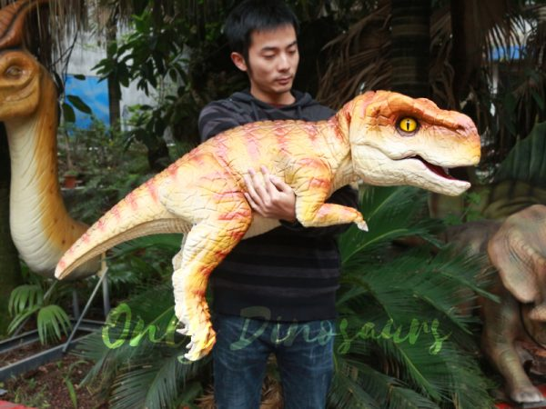 Lifelike-Baby-Dinosaur-Orange-Puppet-For-Interactive-Performer11