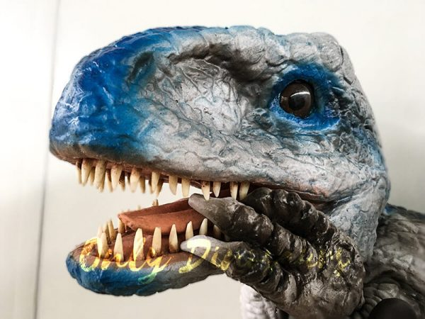 Lifelike Baby Velociraptor Puppet with Gloved Hand6 1