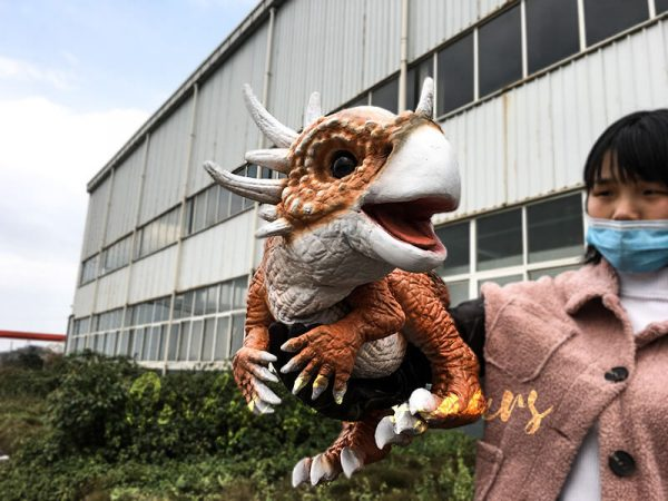Lovely Baby Stygimoloch Puppet For Educational Purposes3 1