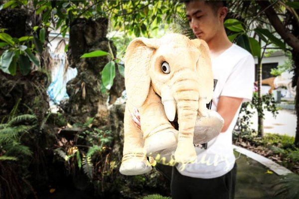Lovely Elephant Hand Puppet for Kids4 1