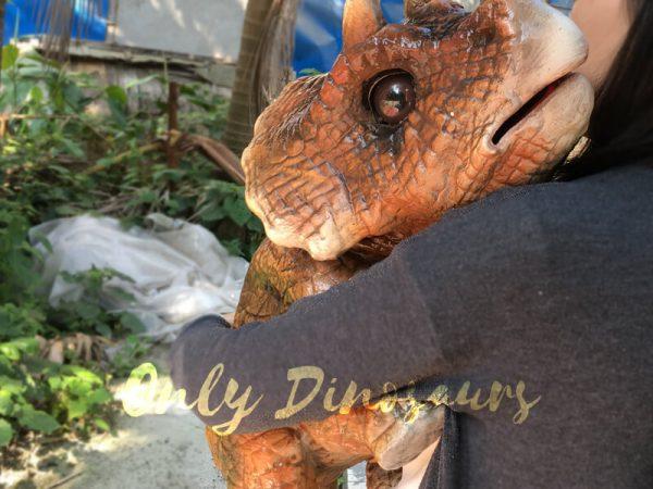 Mechanical-Dinosaur-Baby-Hand-Puppet-Brown6