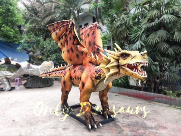 Orange Animatronic Dragon for Theme Park1 1