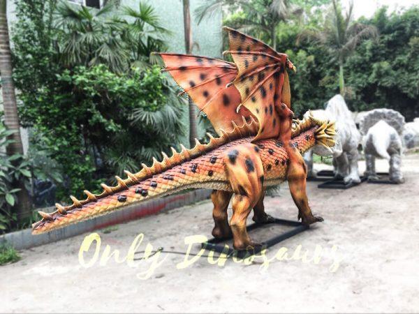 Orange Animatronic Dragon for Theme Park2 1