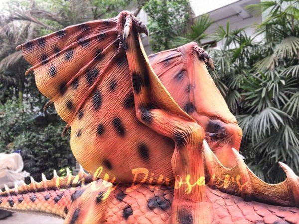 Orange Animatronic Dragon for Theme Park3 1