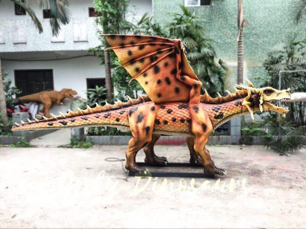 Orange Animatronic Dragon for Theme Park4 1