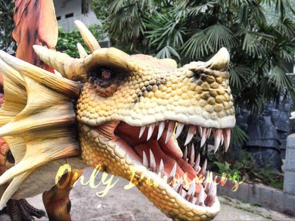 Orange Animatronic Dragon for Theme Park5 1