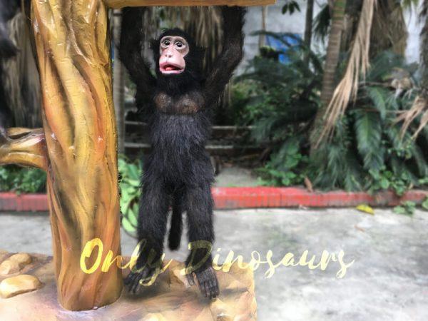 Park-Attraction-Black-Animatronic-Monkey-with-stump6