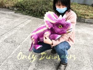 Pink Baby Dinosaur Arm Toy Hand Puppet for Kids