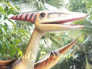 Realistic Animatronic Pterosaur on the Stump