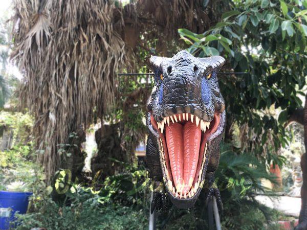 Realistic Animatronic T Rex Head for Building Decoration4