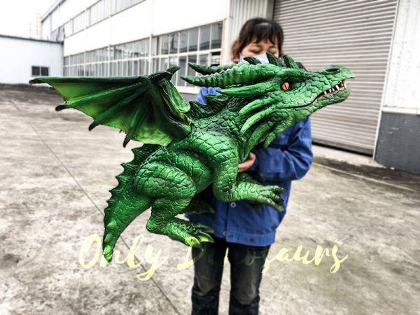 Realistic Baby Dragon Puppet in Green2 1
