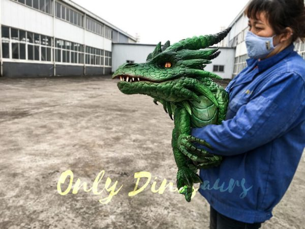 Realistic Baby Dragon Puppet in Green4 1