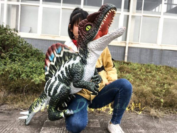 Realistic Baby Spinosaurus Puppet Colorful Hand Puppet3 1