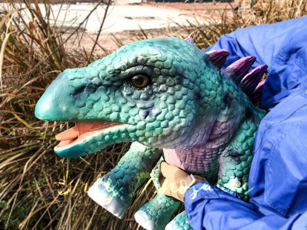 Realistic Baby Stegosaurus Puppet with False Arm5 1