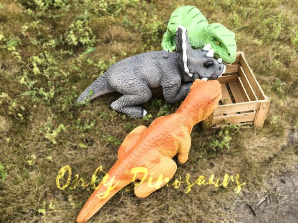 Realistic Baby Triceratops Hand Puppet Manually Controlled Puppet7 1