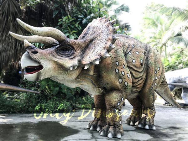 Realistic Dinosaur Triceratops Costume for Two Person Performance1 1