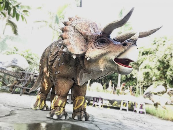 Realistic Dinosaur Triceratops Costume for Two Person Performance4 1