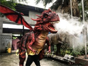 Realistic Red Dragon Costume for Entertainment