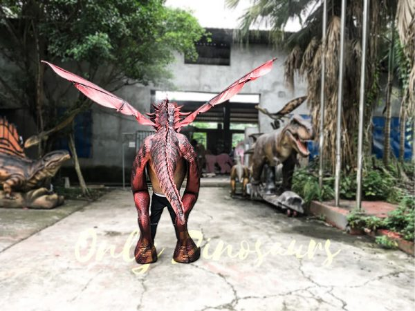 Realistic Red Dragon Costume for Entertainment4 1