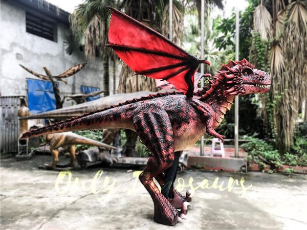 Realistic Red Dragon Costume for Entertainment5 1