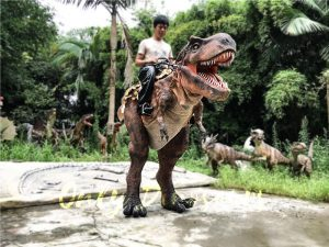 Realistic Ride On Dinosaur Costume on Stilts for Adults