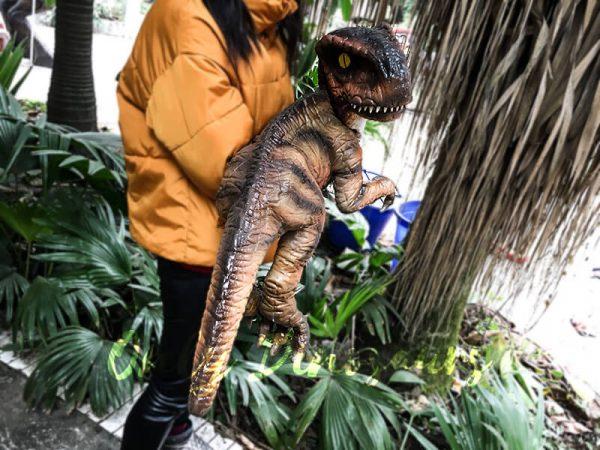 Realistic Stripe Baby T Rex Dinosaur Puppet1 1