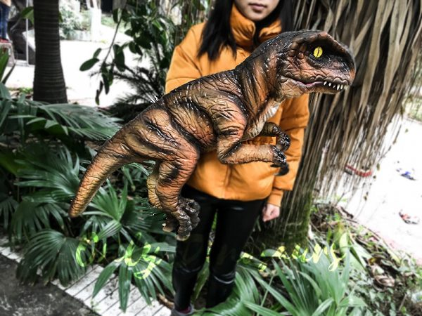 Realistic Stripe Baby T Rex Dinosaur Puppet2 1