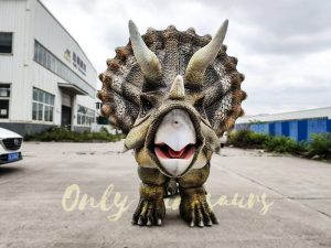 Realistic Triceratops Costume For Two Adults