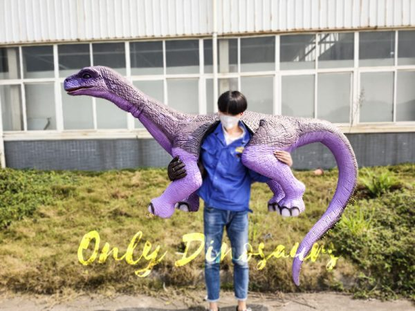 Shoulder Brontosaurus Dinosaur Puppet with Fake Arm2 1