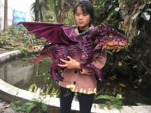 Adorable-Fly-Dragon-Puppet-For-Kids-In-Purple-2