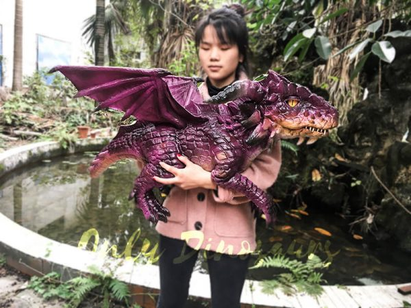 Adorable Fly Dragon Puppet for Kids in Purple1