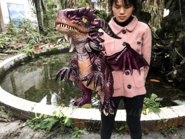 Adorable Fly Dragon Puppet for Kids in Purple2