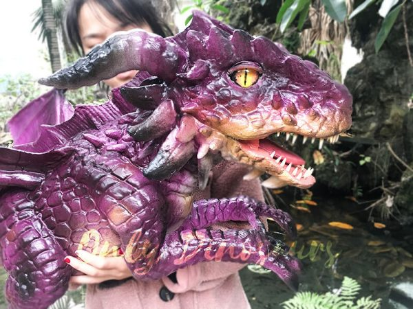 Adorable Fly Dragon Puppet for Kids in Purple3