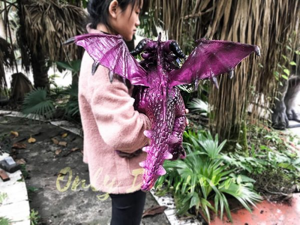 Adorable Fly Dragon Puppet for Kids in Purple4