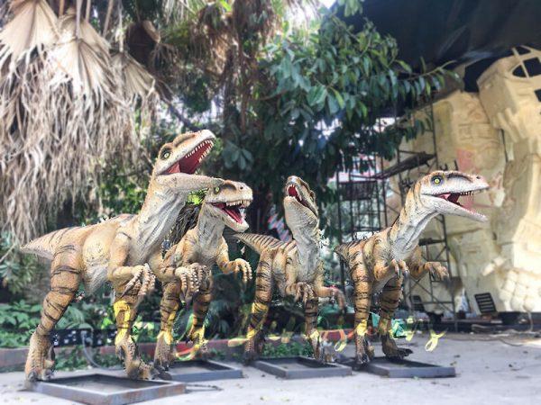 Agminate Utahraptor Animatronic Dinosaur Show Props4