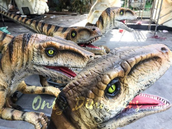 Agminate Utahraptor Animatronic Dinosaur Show Props7