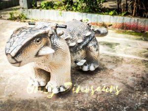 Amusement Ankylosaur Dinosaur Rider for Kiddy