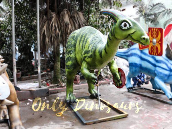 Armed Custom Dinosaur Parasaurolophus in Green1