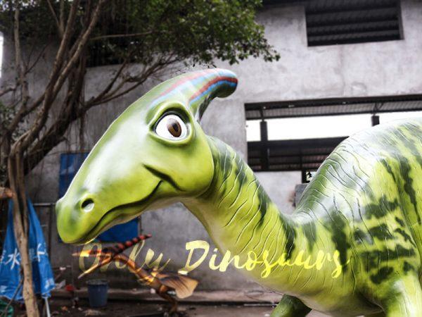 Armed Custom Dinosaur Parasaurolophus in Green3
