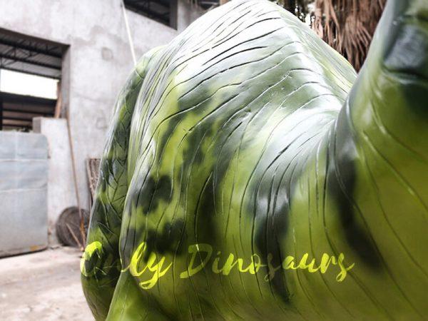 Armed Custom Dinosaur Parasaurolophus in Green4