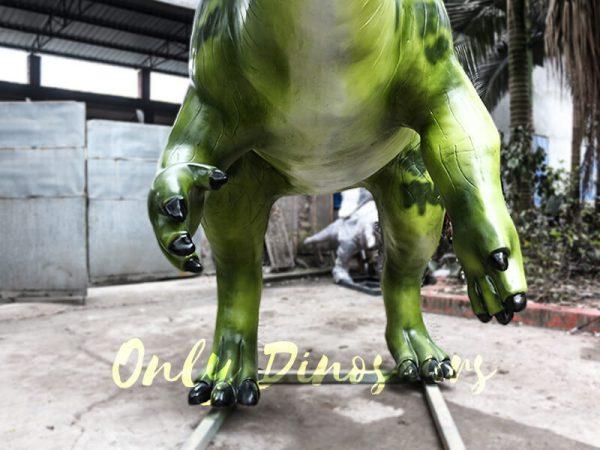 Armed Custom Dinosaur Parasaurolophus in Green5