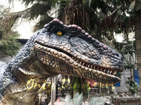 Black Realistic Raptor Costume for Dinosaur Party1