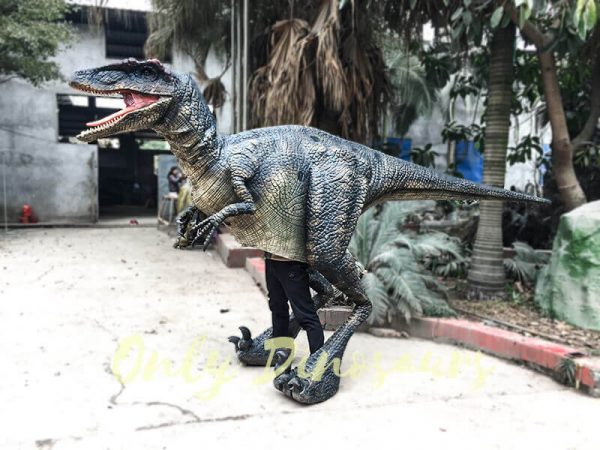 Black Realistic Raptor Costume for Dinosaur Party3