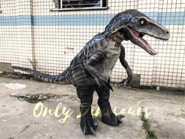Cheap Dinosaur Costume Standing Raptor3