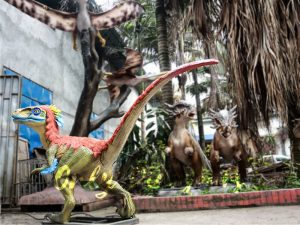 Colorful Feathered Animatronic Raptor for Show